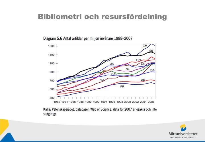Bibliometri och resursfördelning