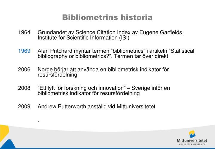 Bibliometrins historia