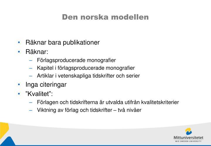 Den norska modellen