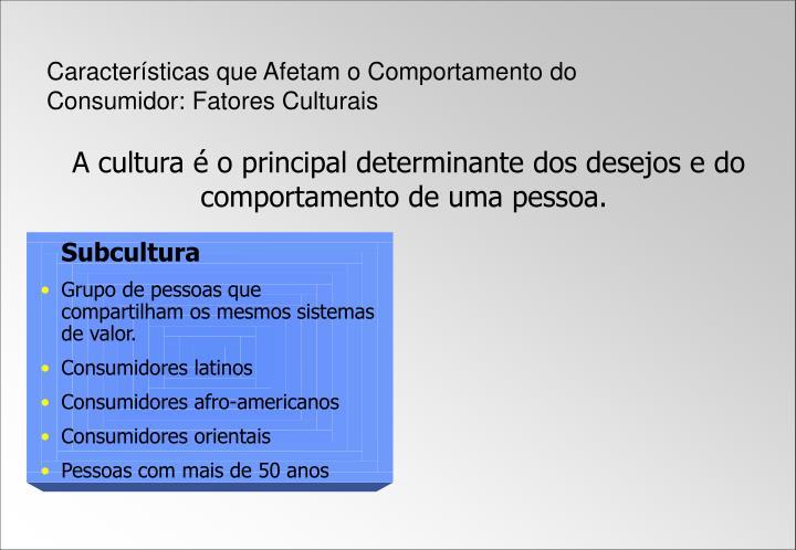 Características que Afetam o Comportamento do Consumidor: Fatores Culturais