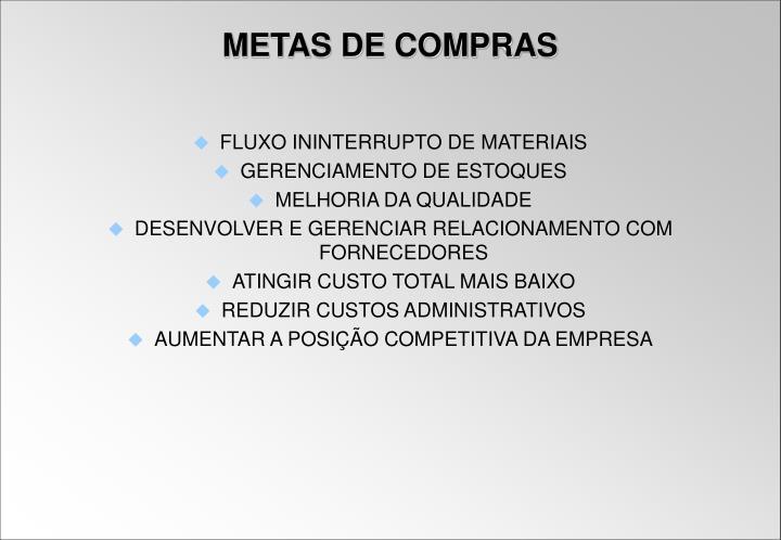 FLUXO ININTERRUPTO DE MATERIAIS