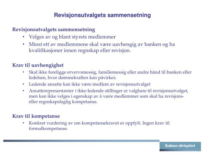 Revisjonsutvalgets sammensetning