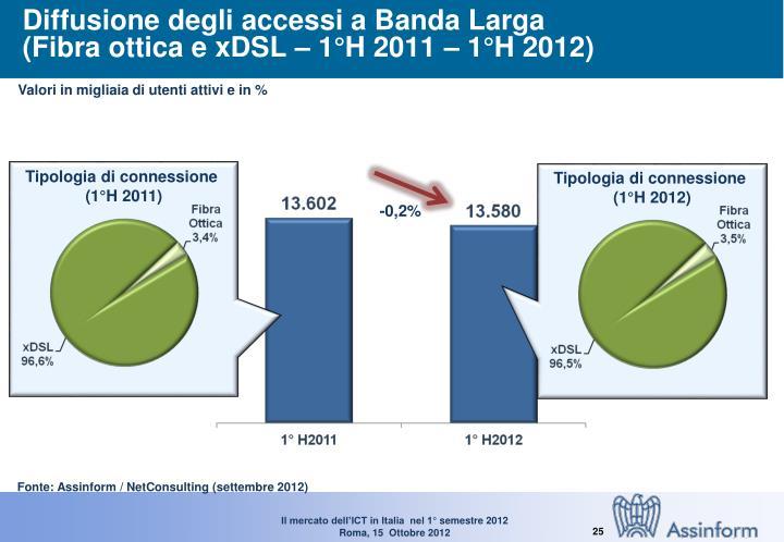 Diffusione degli accessi a Banda Larga