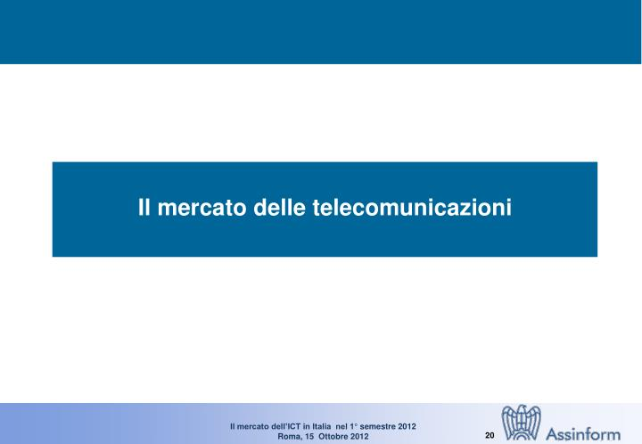 Il mercato delle telecomunicazioni