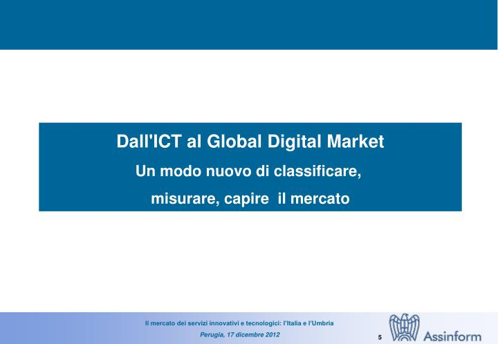 Dall'ICT al Global Digital Market