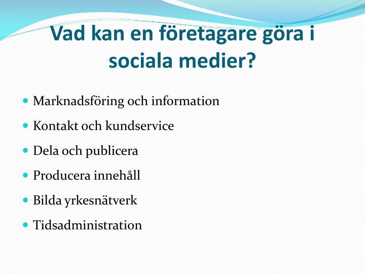 Vad kan en företagare göra i sociala medier?