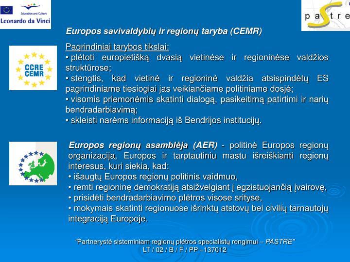 Europos savivaldybių ir regionų taryba (CEMR)