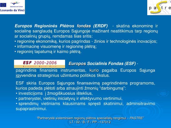 Europos Regioninės Plėtros