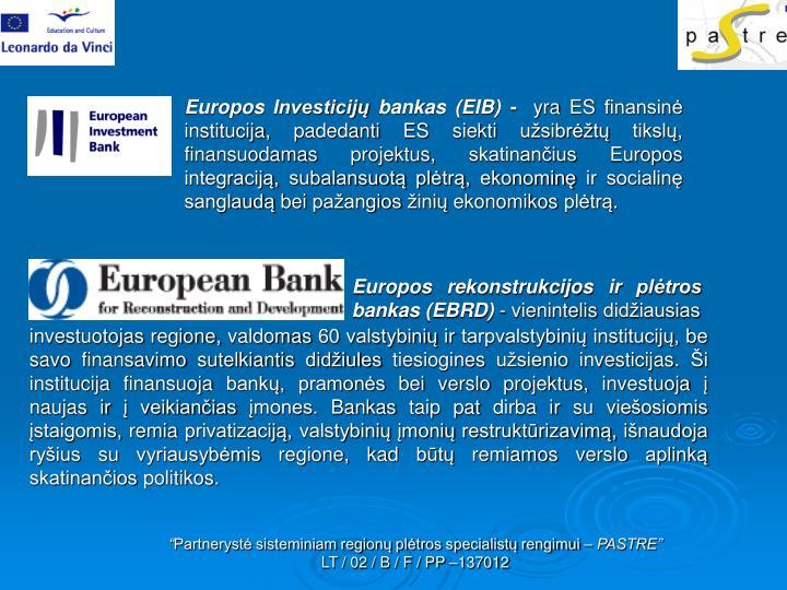 Europos Investicijų bankas (EIB) -