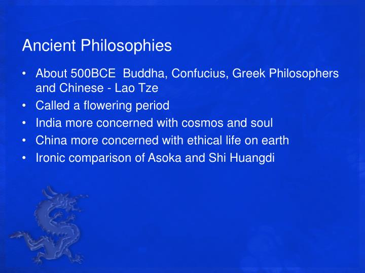 Ancient Philosophies