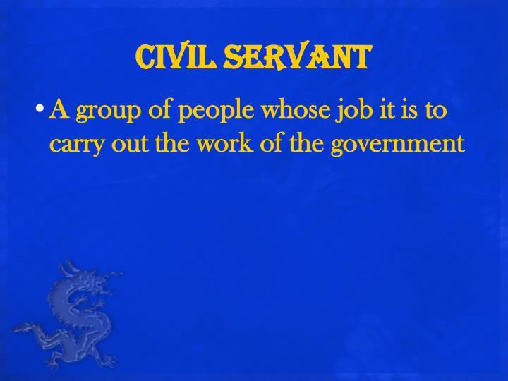 Civil servant
