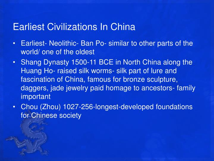 Earliest Civilizations In China