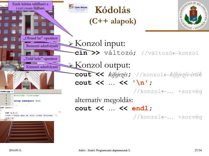 Konzol input: