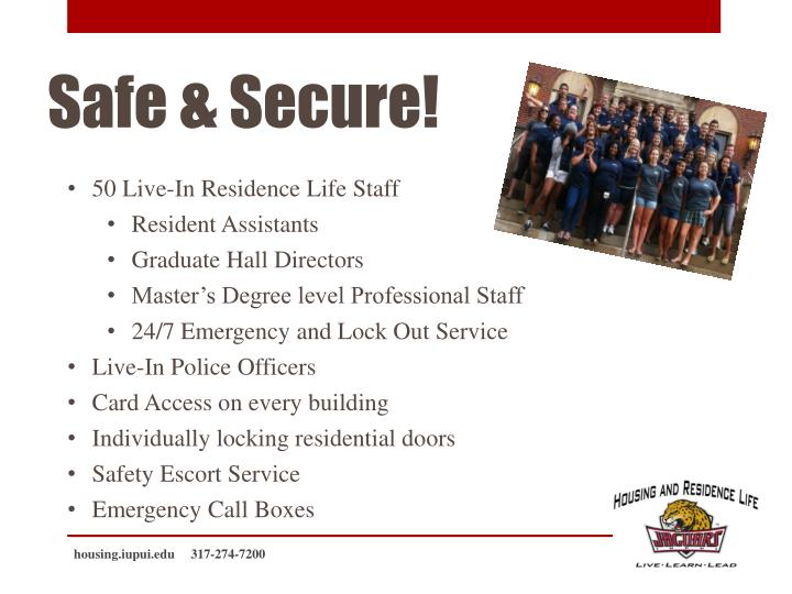 50 Live-In Residence Life Staff