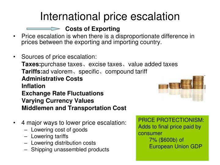 International price escalation