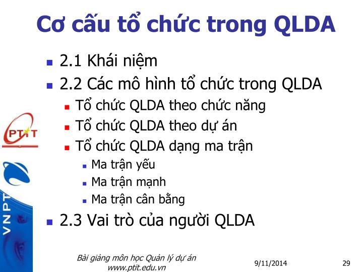 Cơ cấu tổ chức trong QLDA