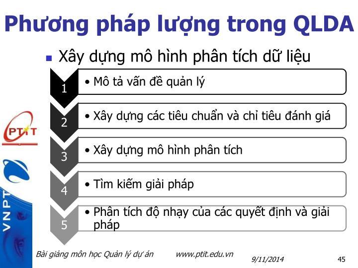 Phương pháp lượng trong QLDA