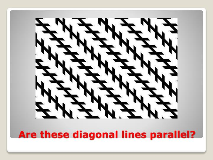 Are these diagonal lines parallel?