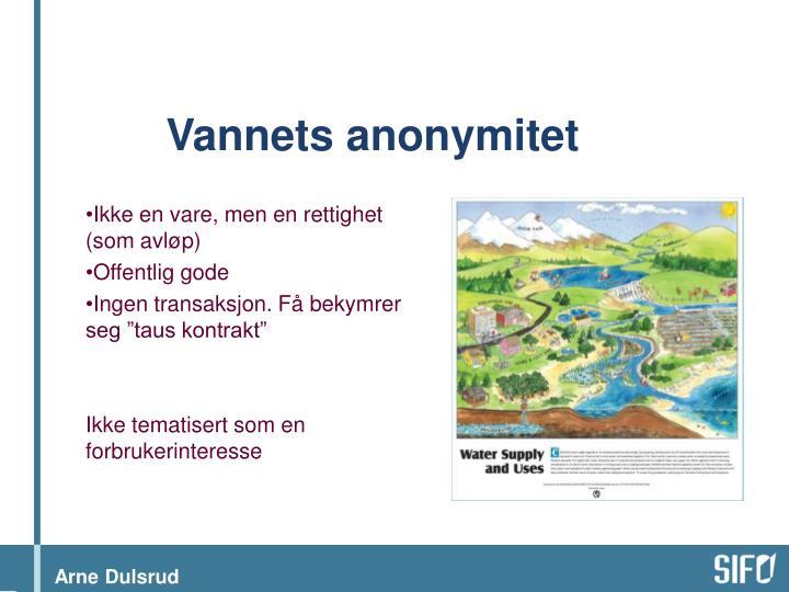 Vannets anonymitet