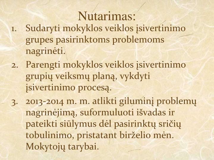 Nutarimas: