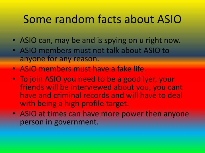 Some random facts about ASIO