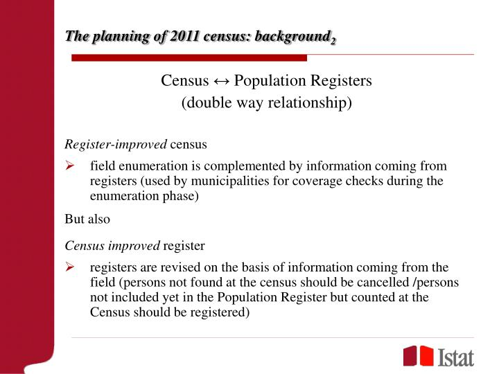 The planning of 2011 census background 2