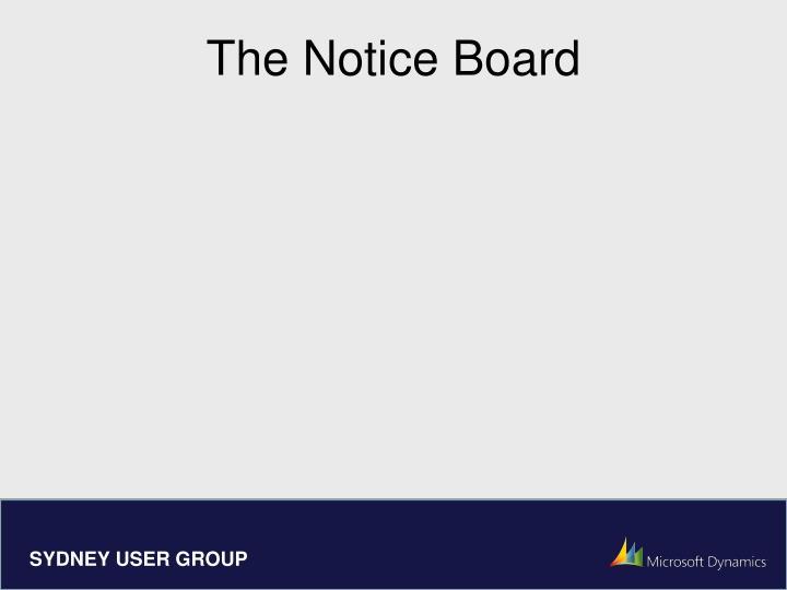The Notice Board