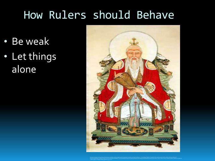 How Rulers should Behave