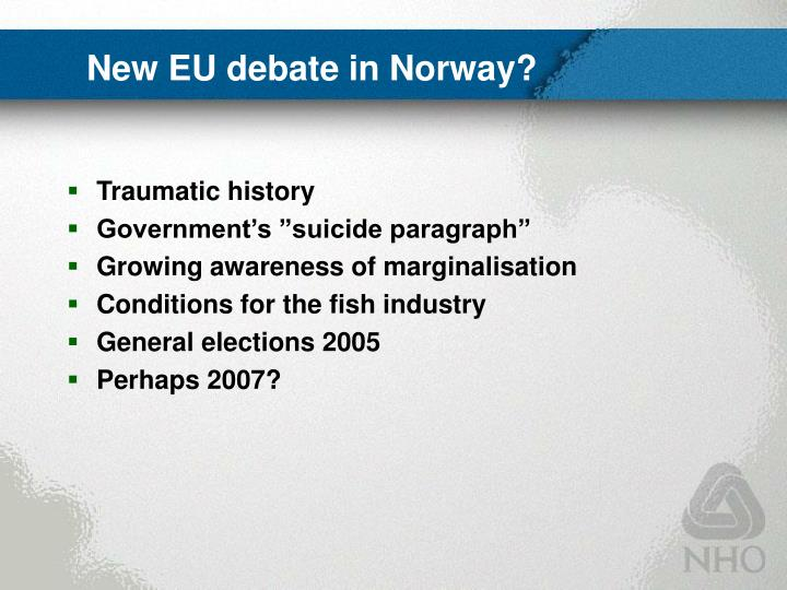 New EU debate in Norway?