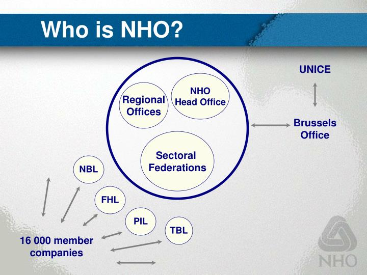 Who is NHO?