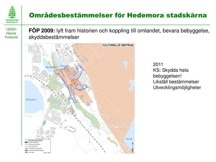 Områdesbestämmelser för Hedemora stadskärna