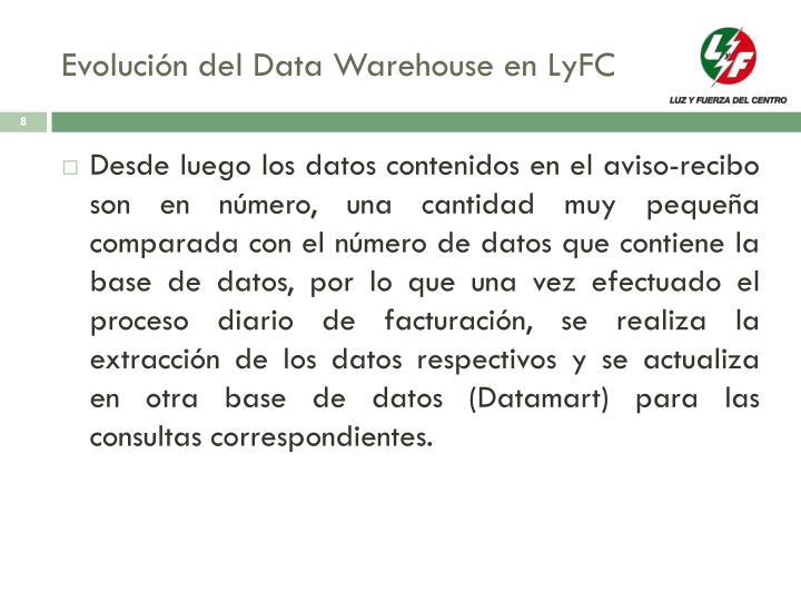 Evolución del Data Warehouse en LyFC