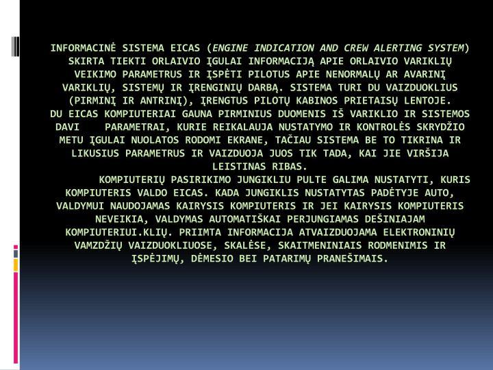 Informacinė sistema EICAS (
