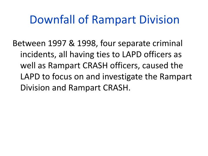 Downfall of Rampart Division
