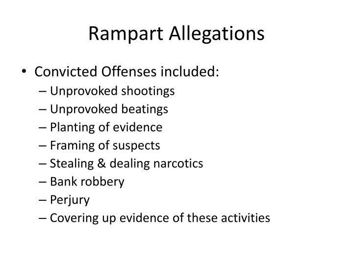 Rampart Allegations