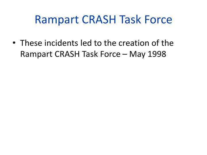 Rampart CRASH Task Force