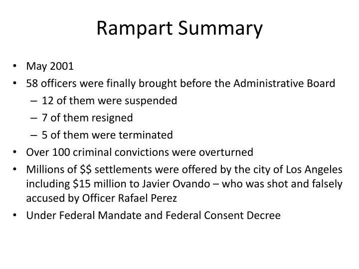 Rampart Summary