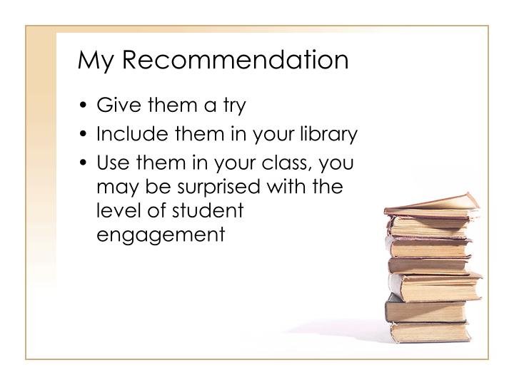 My Recommendation