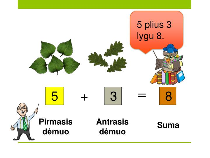 5 plius 3