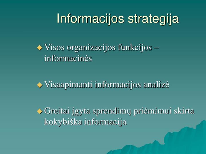 Informacijos strategija