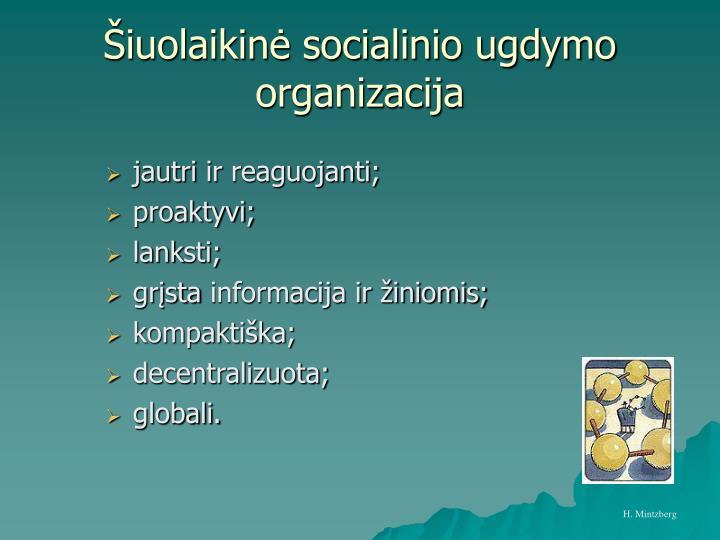 Šiuolaikinė socialinio ugdymo organizacija