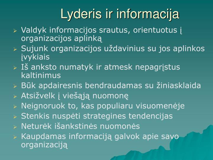 Lyderis ir informacija