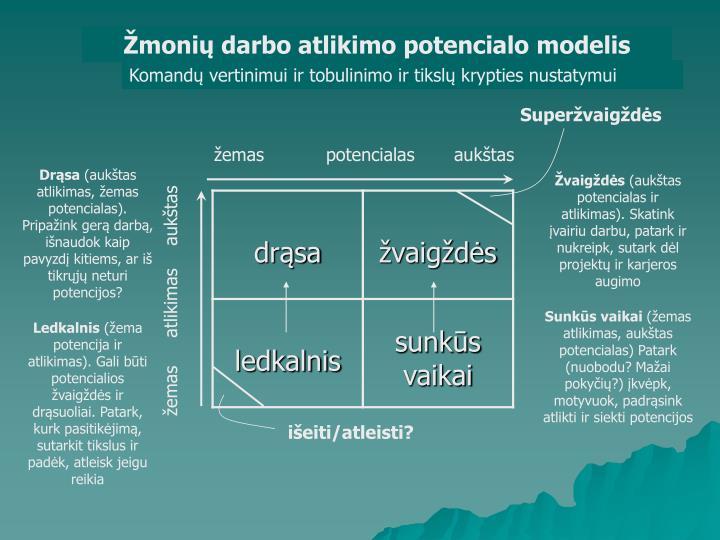 Žmonių darbo atlikimo potencialo modelis