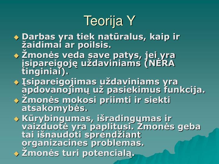 Teorija Y