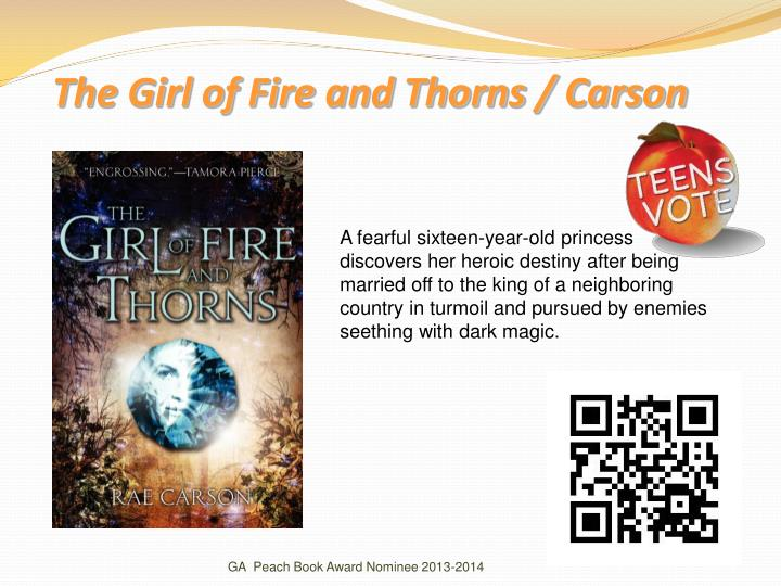 The Girl of Fire and Thorns / Carson