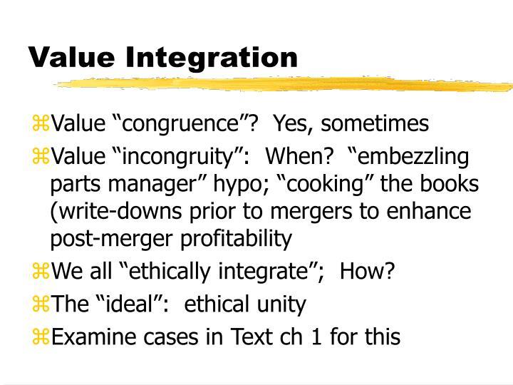 Value Integration