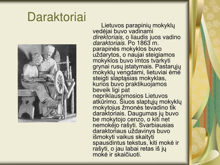 Daraktoriai