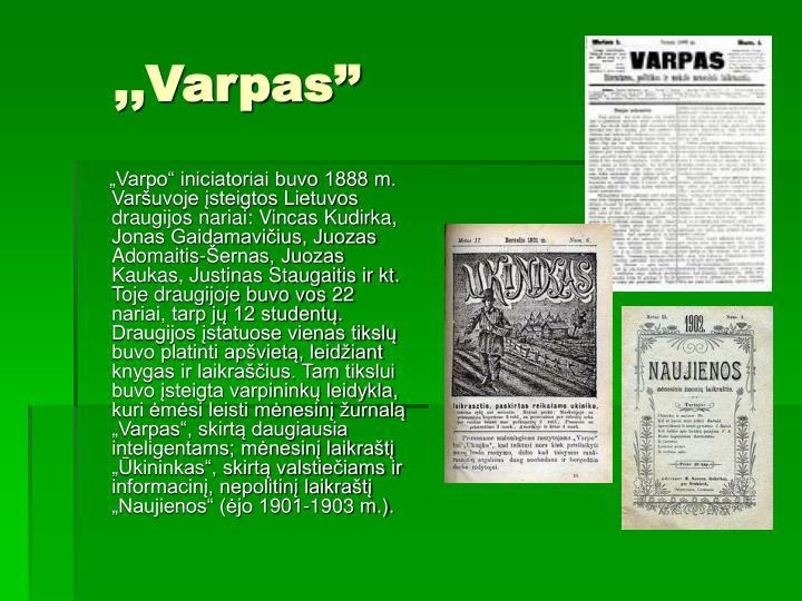 ,,Varpas''