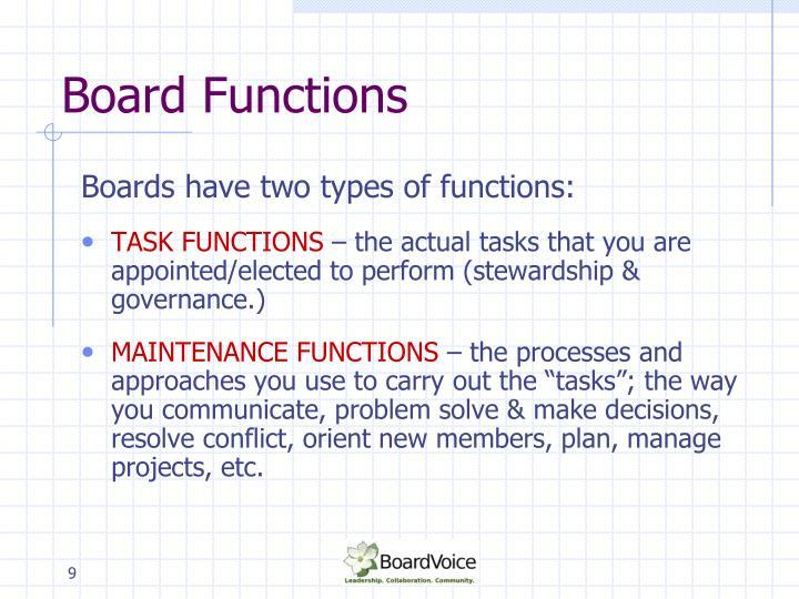 Board Functions