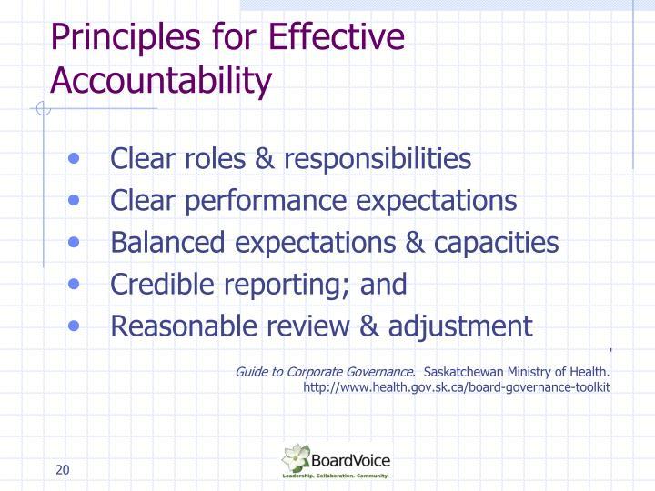 Principles for Effective Accountability